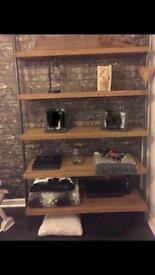 Wooden shelving 5x shelves metal frame