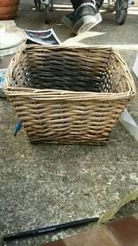 Small wicker storage basket