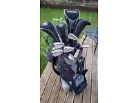 Full set of graham tonge golf clubs and Titleist bag