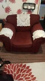 Arm Chair Burgundy