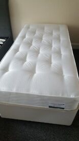 Single divan bed with 2 drawers