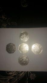 16 collectible 50p coins