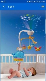 Under Sea Musical Cot Mobile and Light Projector