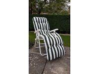Reclining garden chairs x2 new!