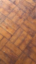 Pine parquet flooring