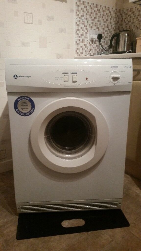 White knight 6kg tumble dryer with sticker like new can deliver for a small charge