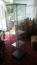 All glass upright display cases