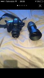Nikon D80 with Tamron 55-200mm lens