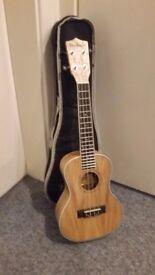 Freshman UKASHC Concert Acoustic Ukulele, Ash - Like New