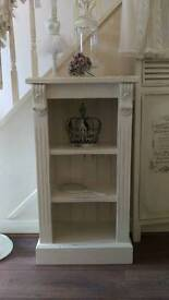 Lovely old pine solid bookcase, shelves, shabby chic