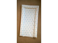 Blue and White Baby Changing Mat