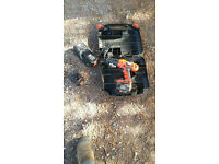 Black & Decker firestorm 14.4v drill, carry case and 3 batteries