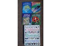 4 Usborne Encyclopedia (Miniature Editions) + Dorling Kindersley Children's Illustrated Encyclopedia