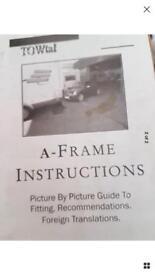 A frame for tow car