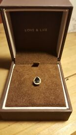 9ct gold sapphire and diamonds pendant Ernest Jones