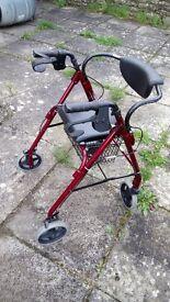 Four wheel walker