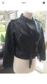 Lovely ASOS women's Leather look jacket size small