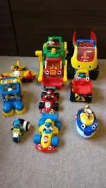 WOW toys, cars trucks aeroplane, figures