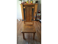 Natural Solid Wood Dining Chair (Oak Furniture Land)