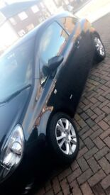 Low mileage black vauxhall corsa