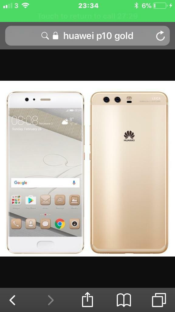 Huawei p10 gold new unlocked quick sell