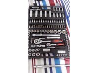 108 piece socket set and tools