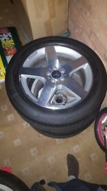 Mercedes benz 19inch alloys plus tyres for sale