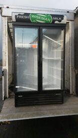 Glass D/D display fridge