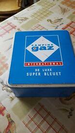 Vintage Camping Gaz Stove. International De Luxe Super Bleuet.