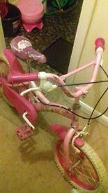 pink disney bike
