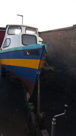 For Sale: 16ft Fishing Boat with Mariner 14 knot Outboard engine and a backup 4 knot backup outboard