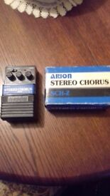 ARION STEREO CHORUS SCH-Z VINTAGE PEDAL WITH BOX EXCELLENT.....JAPAN