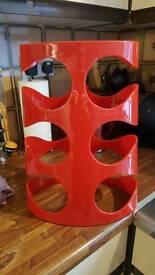 designer red wine rack from umbra