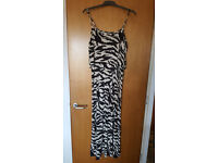 Zebra print maxi dress by George. Brand new condition. Only £2!