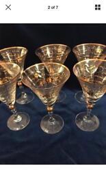 Fantastic Martini Glasses x6