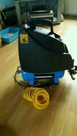 Power based air compressor 8 Bar with air stapler and nailer/stapler and 10000 staples