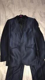 Men's silk navy suit