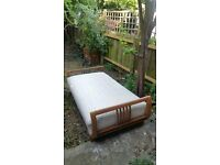 Swedish daybed with art deco wooden frame