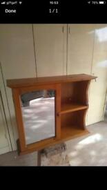 REDUCED Solid pine bathroom cabinet