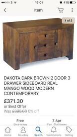 Dark Mango living room furniture set