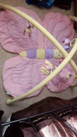 Butterfly baby playmat and gym