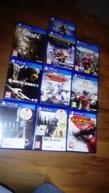 Ps4 Games. 4 games for £ 50