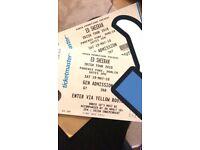 Ed Sheeran Tickets - 19th May 2018 - Dublin