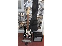 bass guitar package bass by fenson amp by cruizer with strap lead stand + gigbag