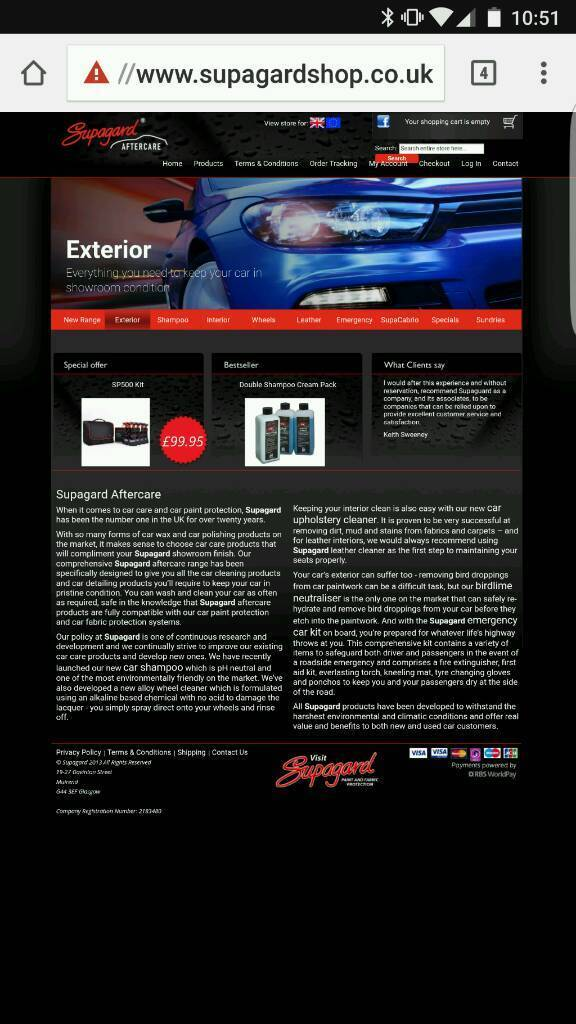 Brand new Supagard Car cleaning set