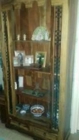 Jali sheesham display / bookcase