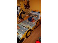 Toddlers jcb bed, digger covers etc