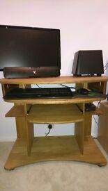 Pine office desk - Corona range