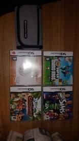 Ds games and case (super Mario bros)