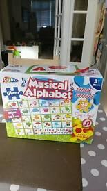Musical alphabet floor puzzle